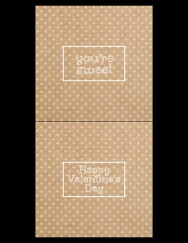 Kraft-Style Valentine's Candy Bar Wrapper Label