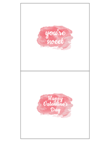 Watercolor Candy Bar Wrapper Label