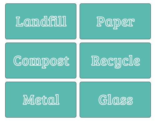 Earth Day Recycle Assorted Label