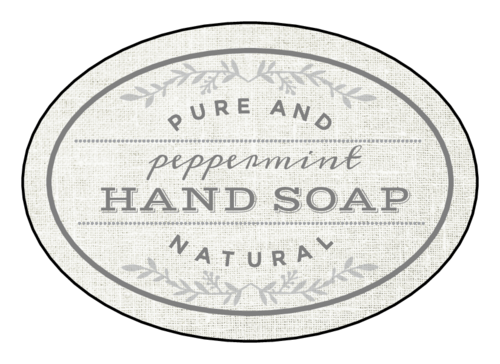 """Pure and Natural Hand Soap"" Bath Product Label"