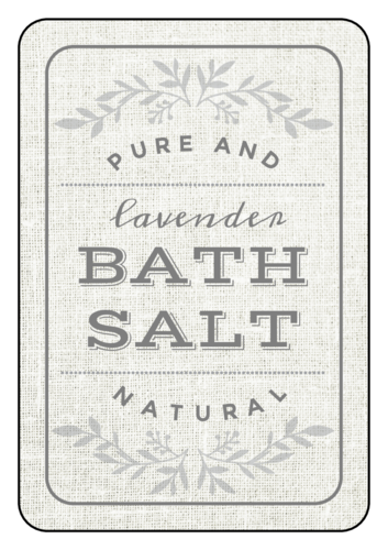 Vintage Bath Salt Product Label