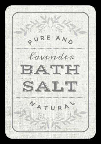 Vintage Bath Salt Product Label