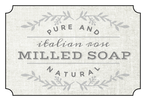 Vintage Milled Bath Soap Product Label