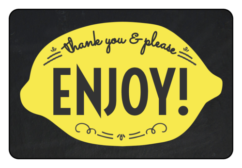 """Thank You & Enjoy"" Lemonade Stand Label"
