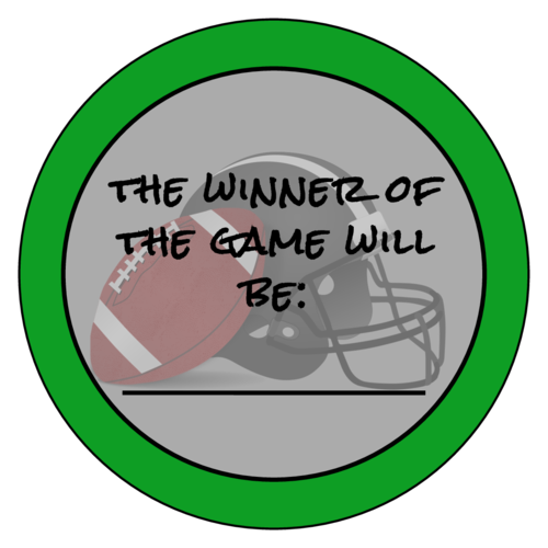 Football Guessing Game Sticker
