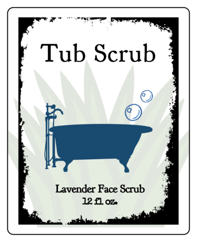 Tub Scrub Product Label
