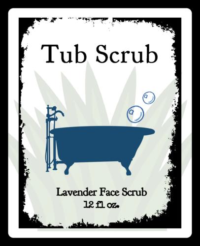 Tub Scrub Product Label