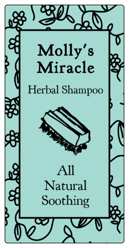 Floral Doodles Shampoo Product Label