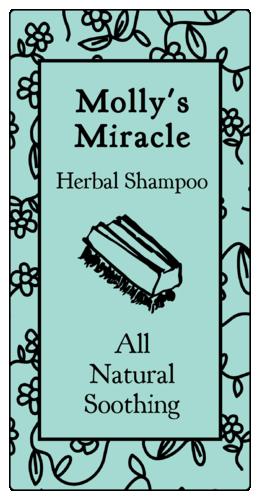 Floral Doodles Shampoo Product Label