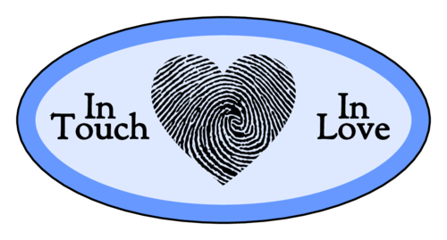 """""""In Touch, In Love"""" Fingerprint Heart Sticker"""