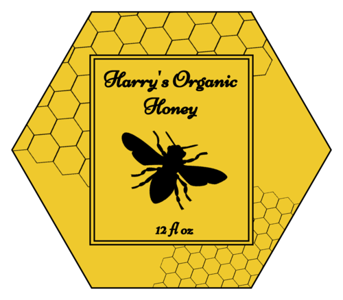 Honeycomb Honey Jar Label