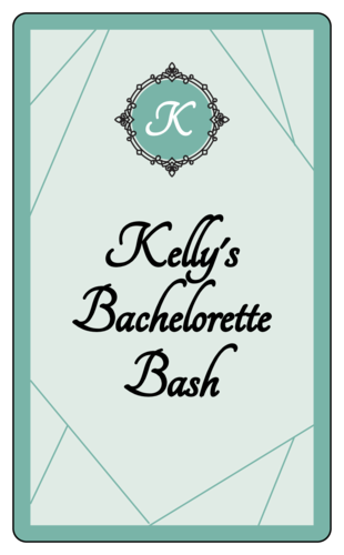 Bachelorette Bash Wine Bottle Label