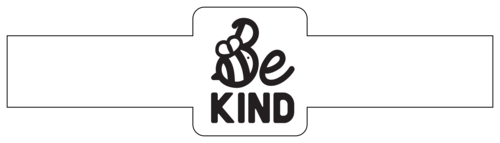 """Be Kind"" Bee Wrap-Around Soap Label"