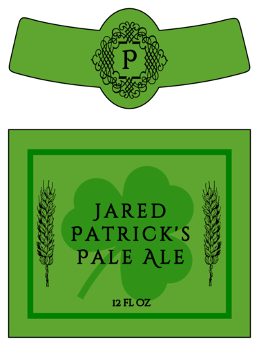 Celtic St. Patrick's Day Beer Bottle Label