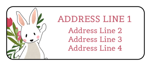 Easter Bunny Spring Address Label