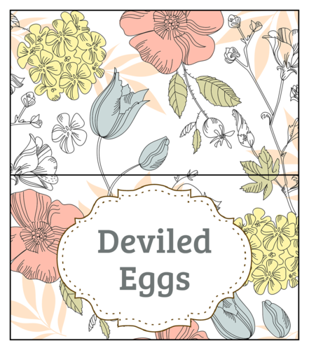 Floral Easter Food Tent Card