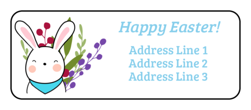 """Happy Easter!"" Bunny Address Label"