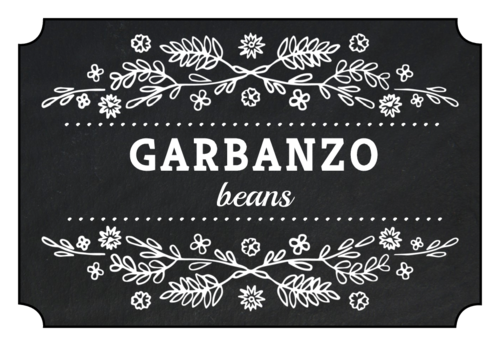 Chalkboard Style Farmhouse Pantry Labels