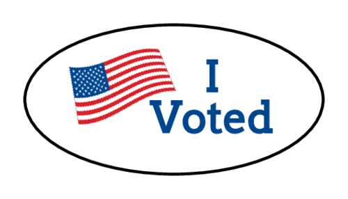 """I Voted"" American Flag Label"