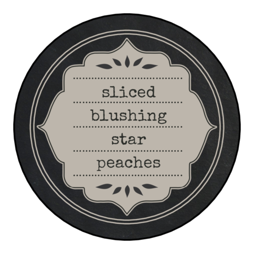 Chalkboard Style Canning Lid Labels