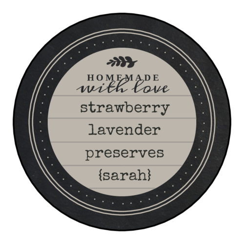 """Homemade With Love"" Canning Circle Labels"