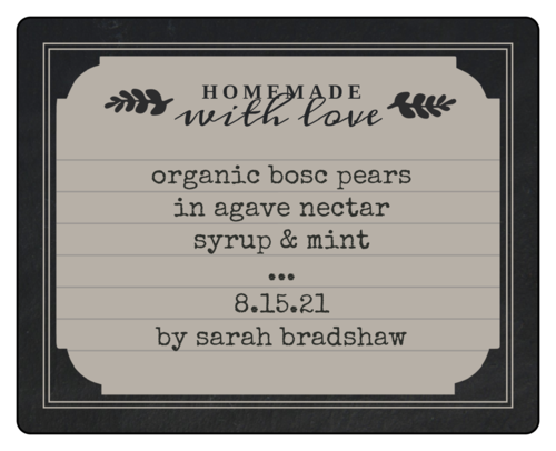 """Homemade with love"" Chalkboard Style Decorative Canning Labels"