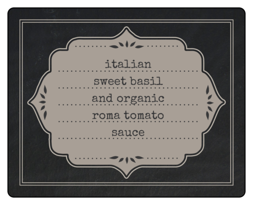 Chalkboard Style Decorative Canning Labels