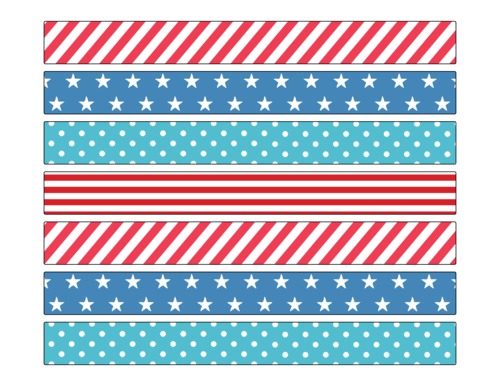 Assorted Fourth of July Decorative Wrap Around Labels