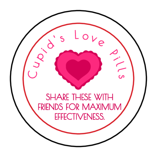 """Cupid's Love Candy"" Valentine's Day Mint Tin Favor Label"