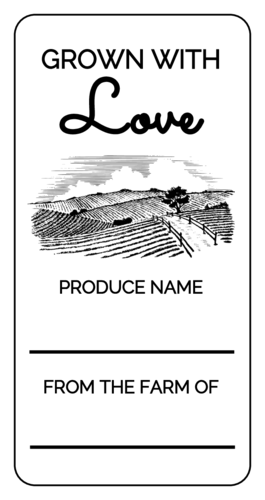 Farm Share Produce Packaging Label