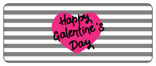 Striped Galentine's Day Favor Label
