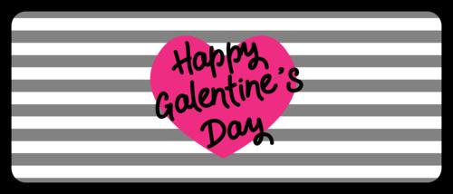 Striped Galentine's Day Favor Label