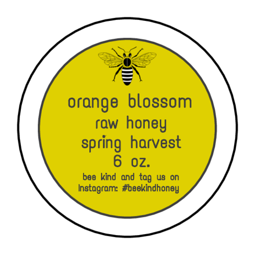 Spring Harvest Honey Jar Label