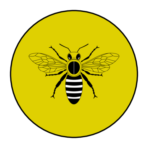 Honey Bee Jar Lid Label