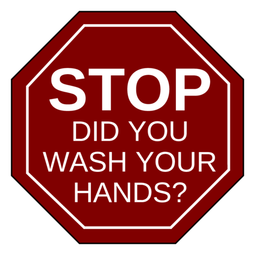 """Stop, did you wash your hands?"" Handwashing Notice Sign"