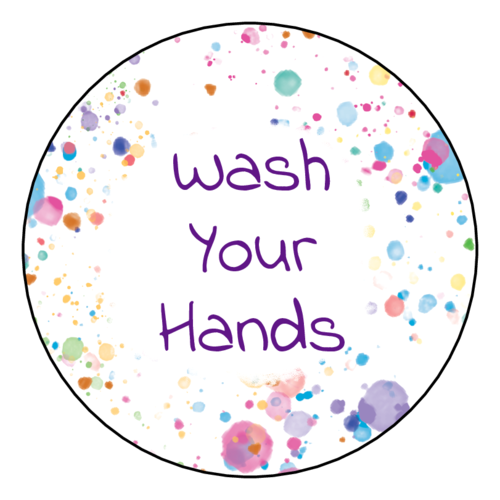 "Kids ""Wash Your Hands"" Sticker"