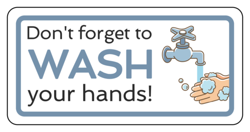 """""""Don't Forget to Wash Your Hands"""" Notice Sign Sticker"""