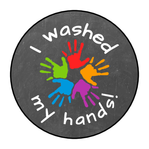 """I Washed My Hands"" Kid Achievement Sticker"