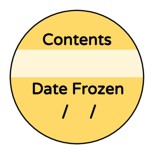 """Date Frozen"" Freezer Storage Meal Prep Label"
