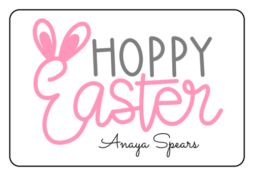 """Hoppy Easter"" Bunny Ears Sticker"
