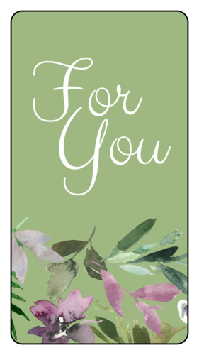 """""""For You"""" Floral Gift Tag Labels"""