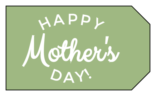 """""""Happy Mother's Day!"""" Gift Tag Labels"""