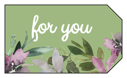 """For You"" Floral Gift Tag Labels"