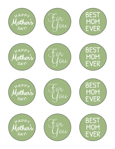 Assorted Mother's Day Gift Circle Labels