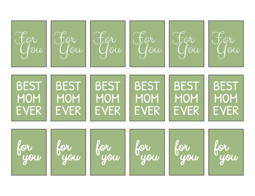 Assorted Mother's Day Gift Rectangle Labels