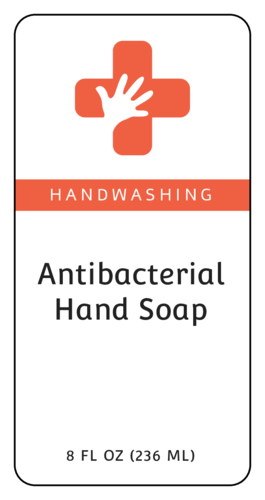 Antibacterial Hand Soap Label