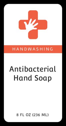 Antibacterial Hand Soap Label
