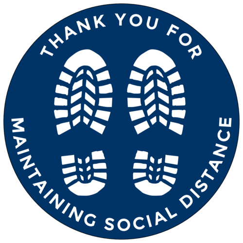 """Thank You For Maintaining Social Distance"" Floor Label"