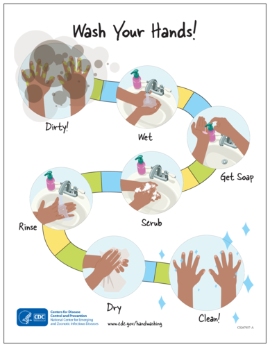 "CDC ""Wash Your Hands"" Handwashing Awareness Poster"