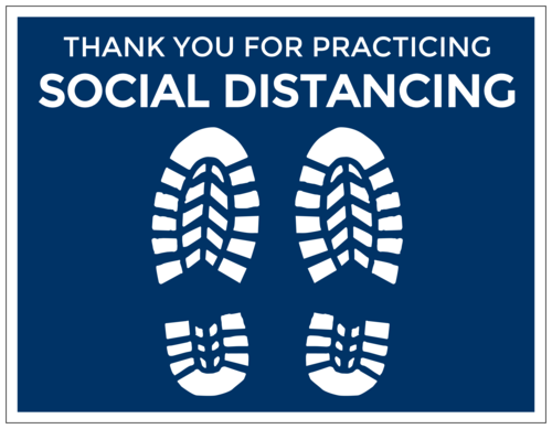 Social Distancing Floor Label